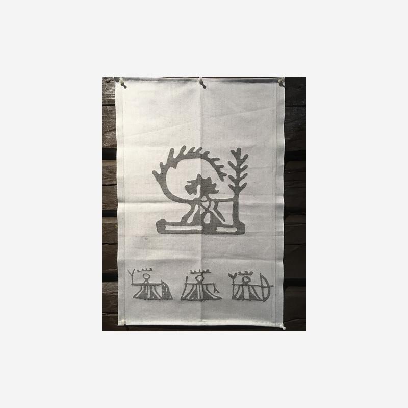 Kjøkkenhåndkle med gudefigurer