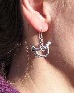 Earrings Ptarmigans