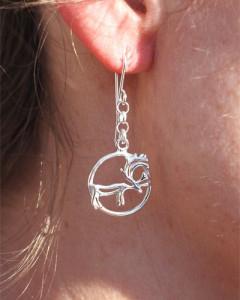 Earrings reindeer