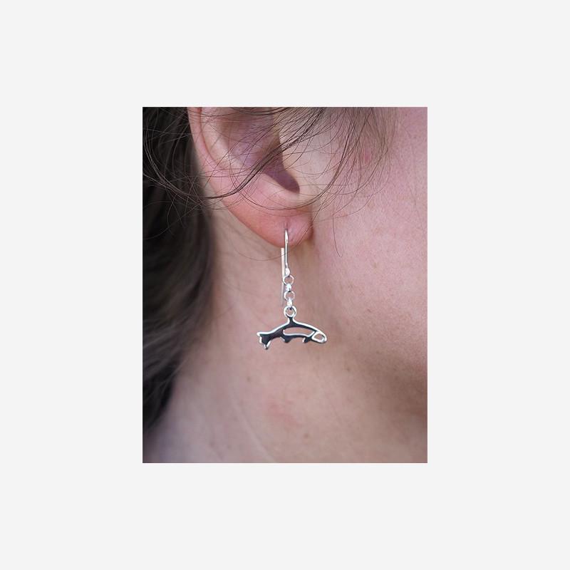 Earrings salmon