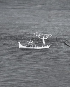 Rockcarving of a boat
