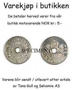 Token NOK 5.-