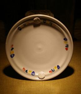 Tana plate white