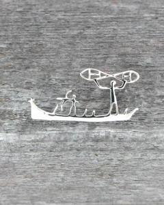 Felszeichnung Jägerboot