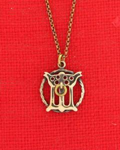 Gotischer Buchstabe im Ring